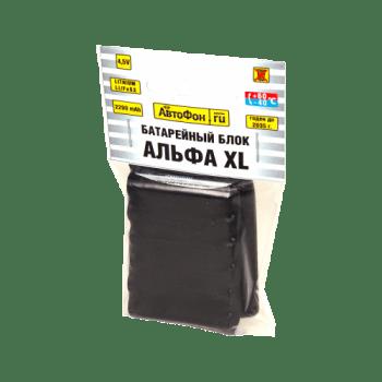 Батарейный блок для АвтоФон АЛЬФА XL, вид сбоку